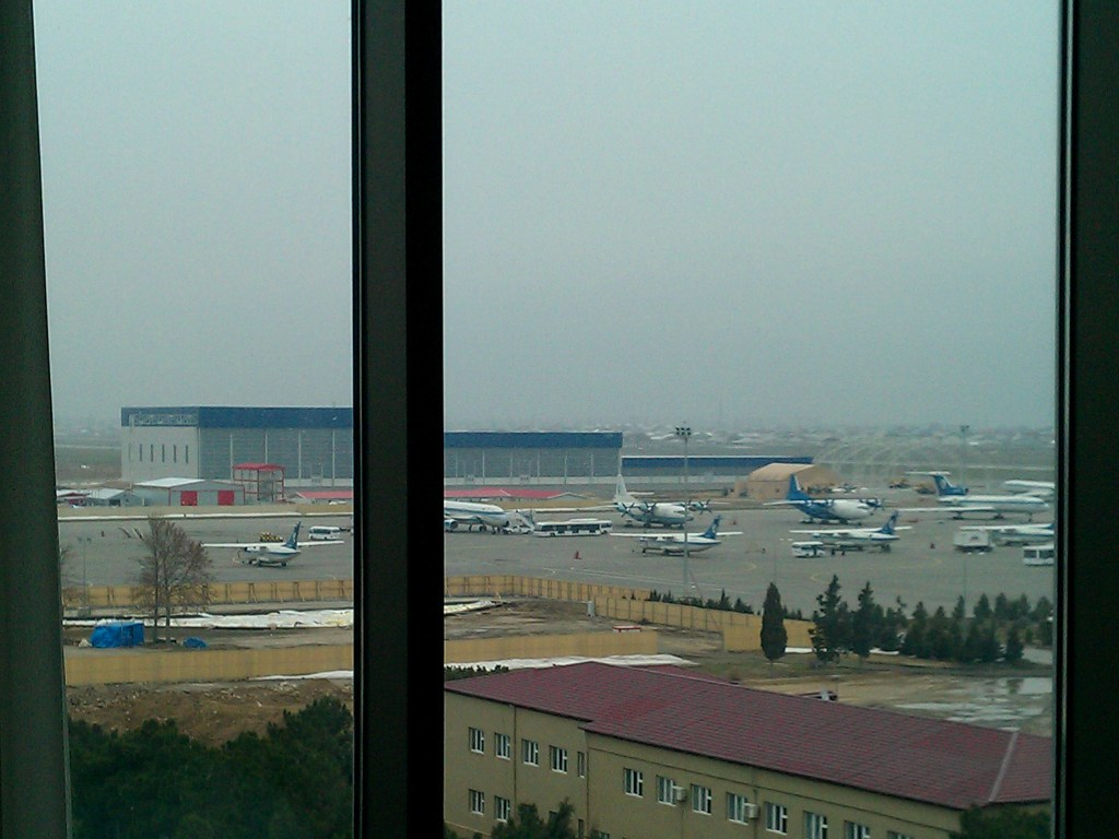 Aircraft photography at Baku from The Sheraton Baku Aiport